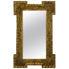 Regency Giltwood Mirror Depicting Serpents