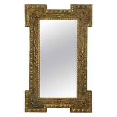 Regency Giltwood Mirror Depicting Serpents