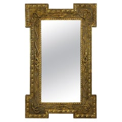 Regency Giltwood Mirror with Serpent Decoration