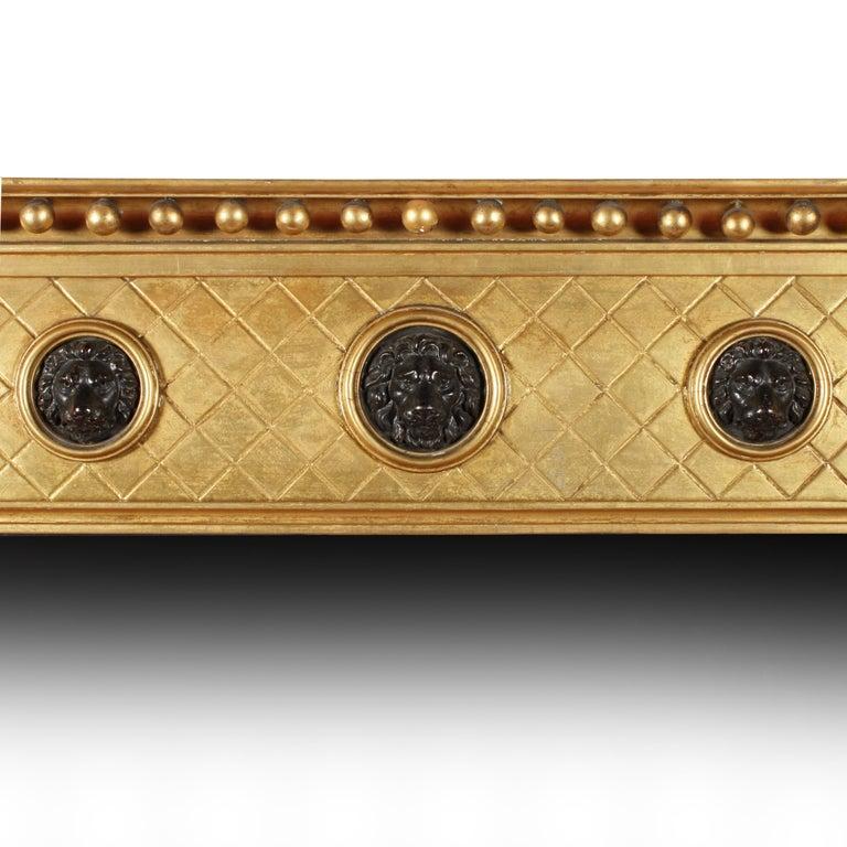British Regency Giltwood Overmantel Mirror For Sale