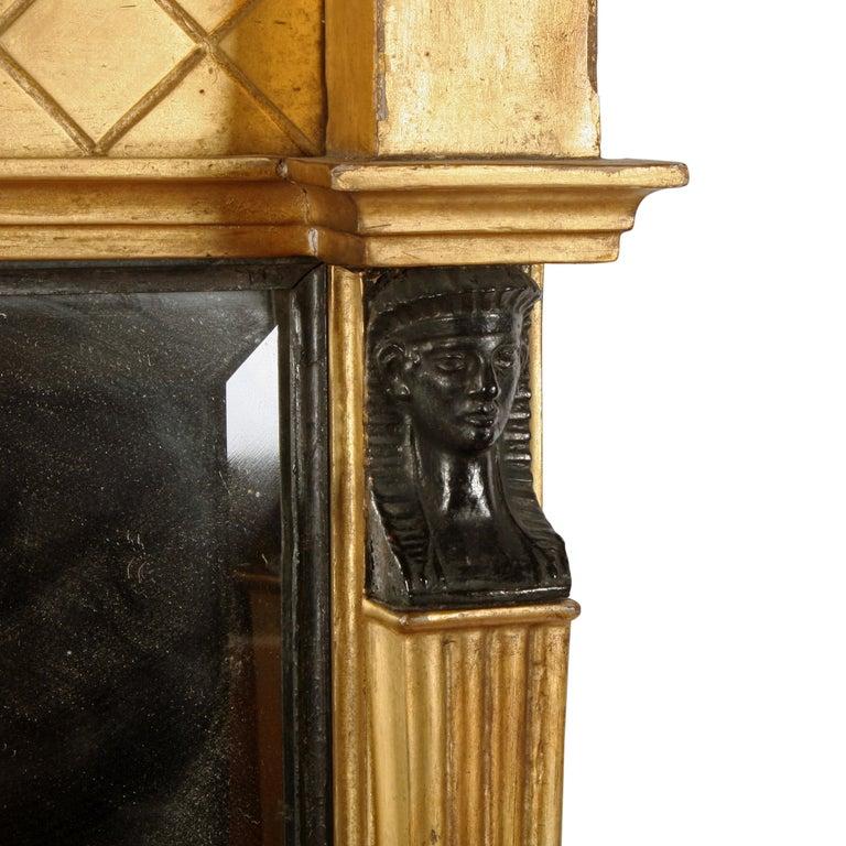 Regency Giltwood Overmantel Mirror For Sale 1