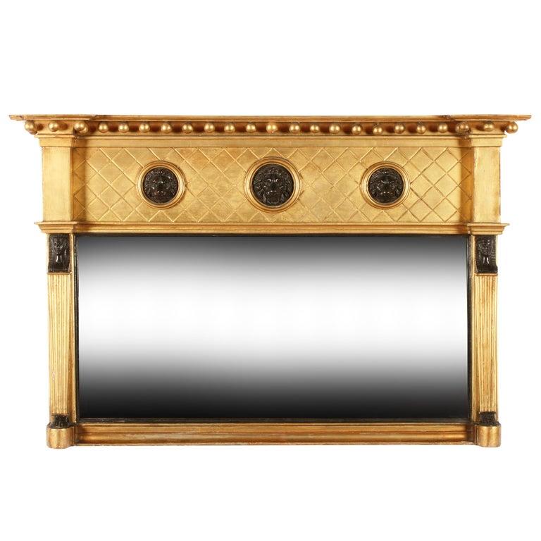 Regency Giltwood Overmantel Mirror For Sale