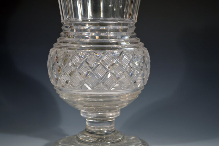 19th Century Regency Glass Large Celery Vase, circa 1820 For Sale