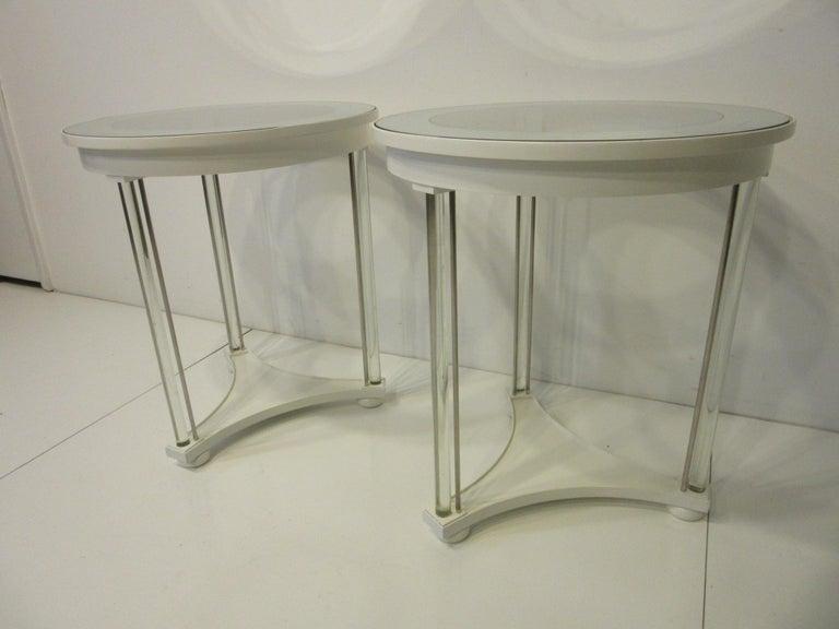 Regency Glass / Wood Side Tables For Sale 4