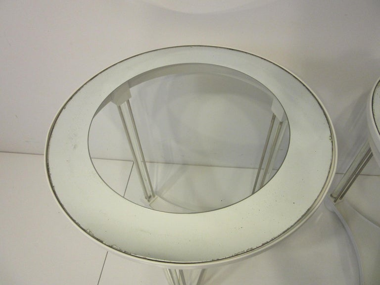 20th Century Regency Glass / Wood Side Tables For Sale