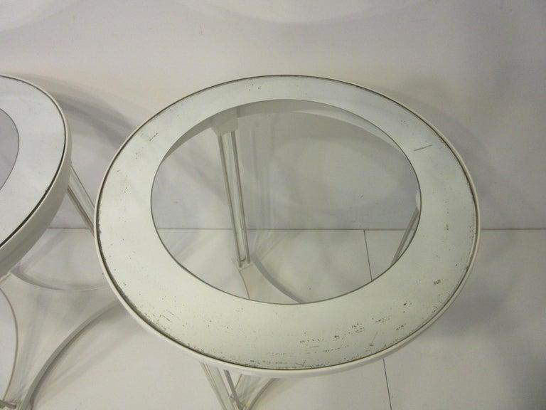 Regency Glass / Wood Side Tables For Sale 1