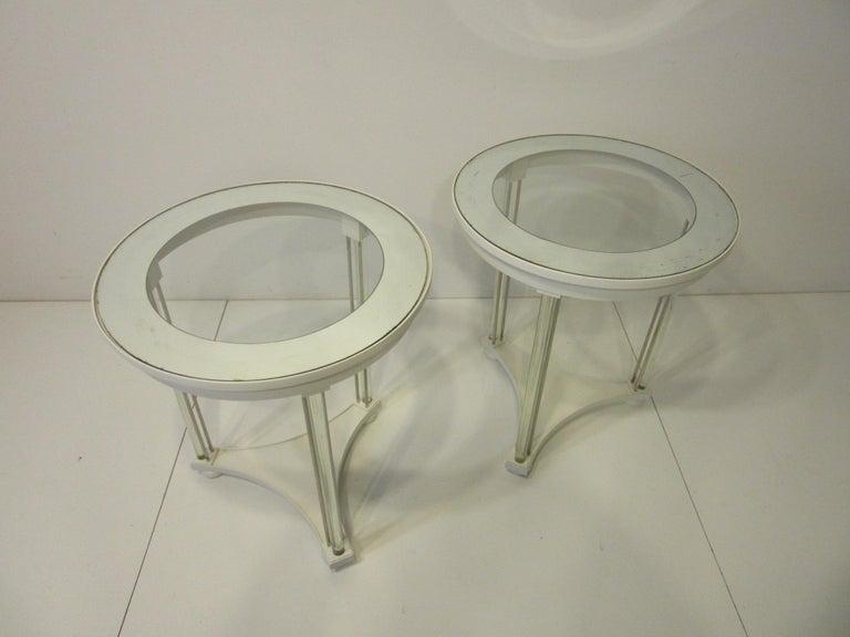 Regency Glass / Wood Side Tables For Sale 3