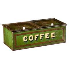 Regency Green Tole Coffee Tin