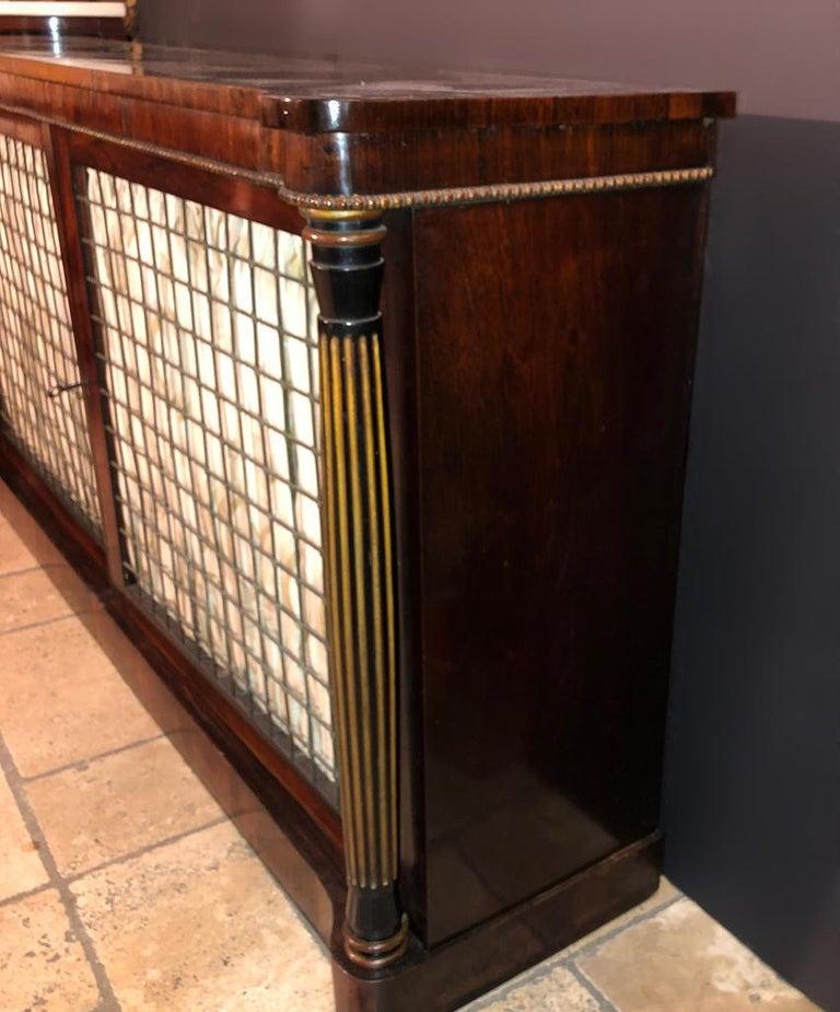 Early 19th Century Regency Grill Door Credenza For Sale