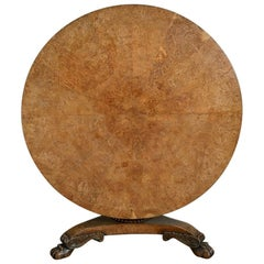 Regency Irish Pollard-Oak Centre Table