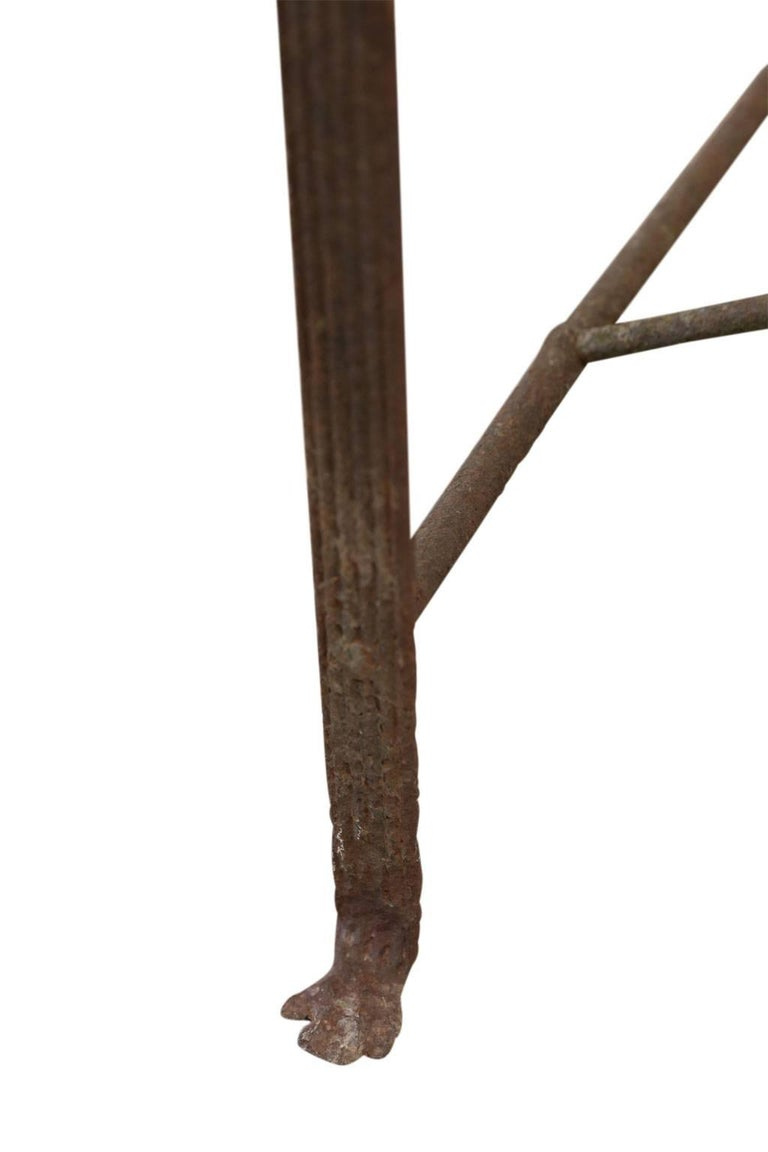 Forged Regency Iron Garden Bench For Sale
