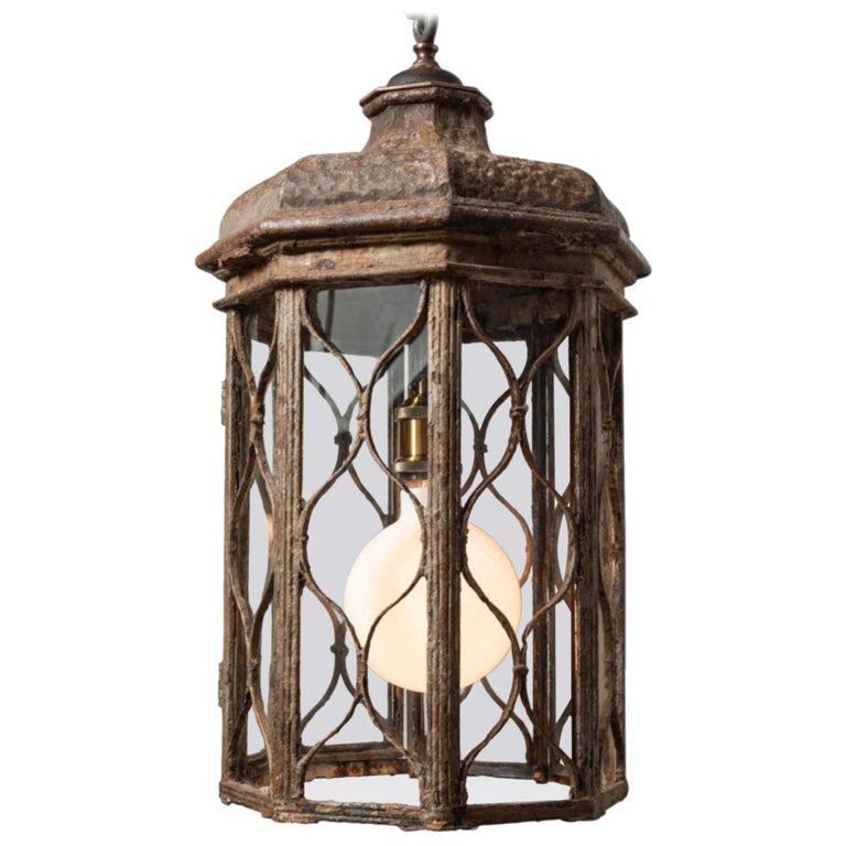 Regency Iron Lantern, England, circa 1815 For Sale