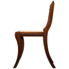 Regency Klismos Chair with Caned Seat
