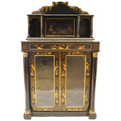 Regency Lacquered Chinoiserie Sideboard