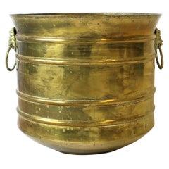 Regency Lionhead Brass Cachepot