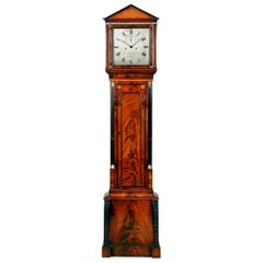 19th Century Antique Regency Mahogany Longcase Clock by John Barwise of London