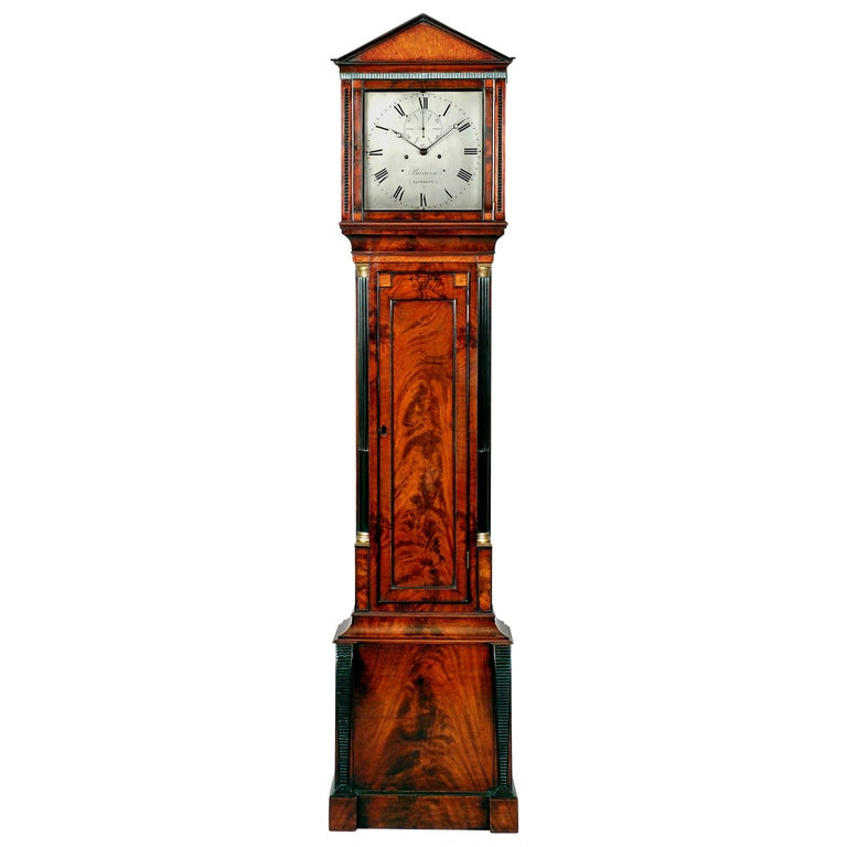Regency Mahogany Longcase Regulator Clock by John Barwise, London
