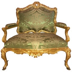 Regency Louis XV Style Marquise Chair, Settee