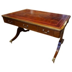Regency Mahogany 19th Century Partner's Desk England