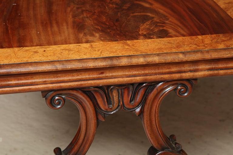 Regency Mahogany and Amboyna Library Table For Sale 2