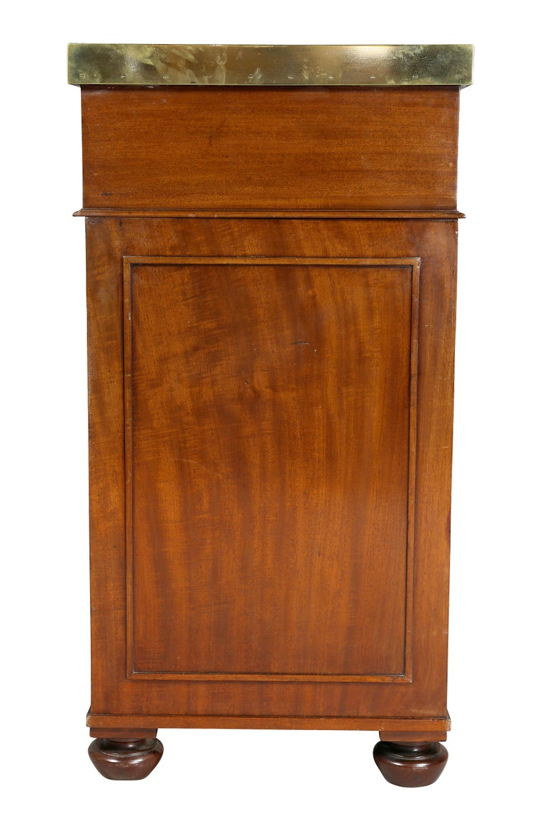 Regency Mahogany and Brass Mounted Campaign Desk For Sale 6