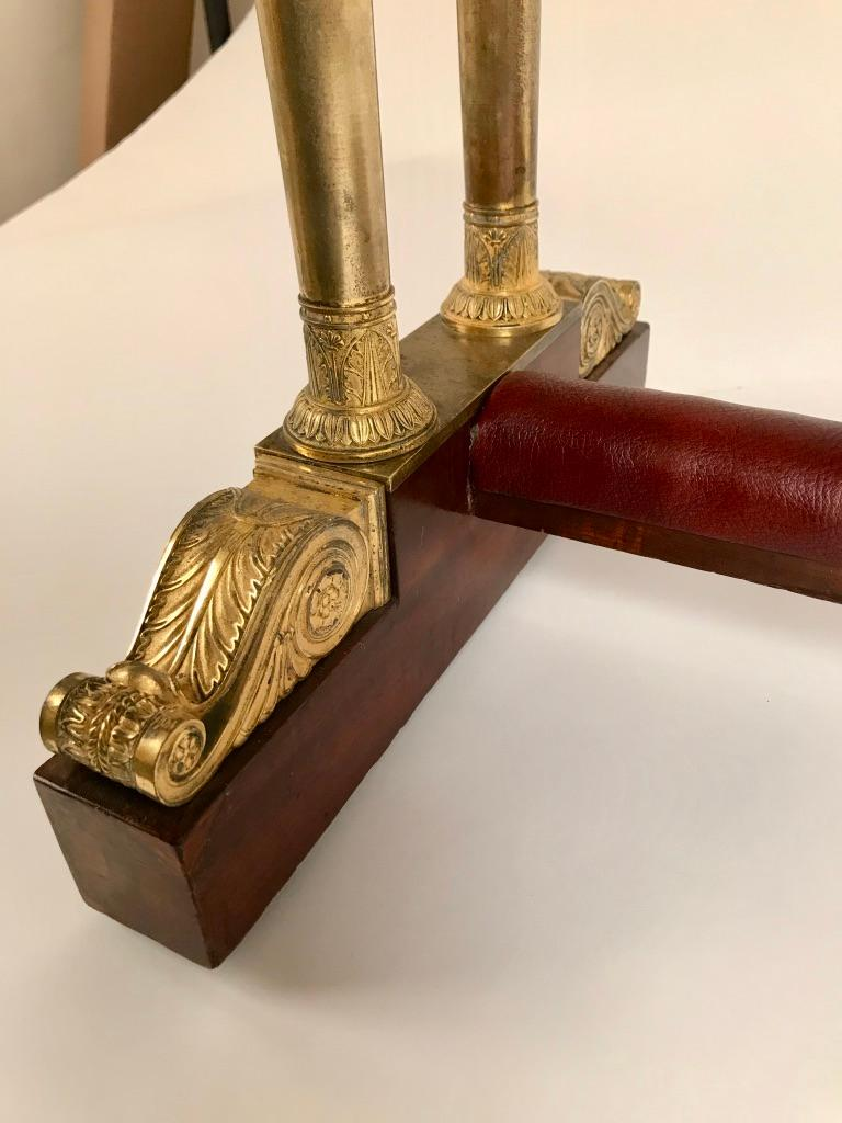 Regency Mahogany and Gilt Bronze Side Table For Sale 8