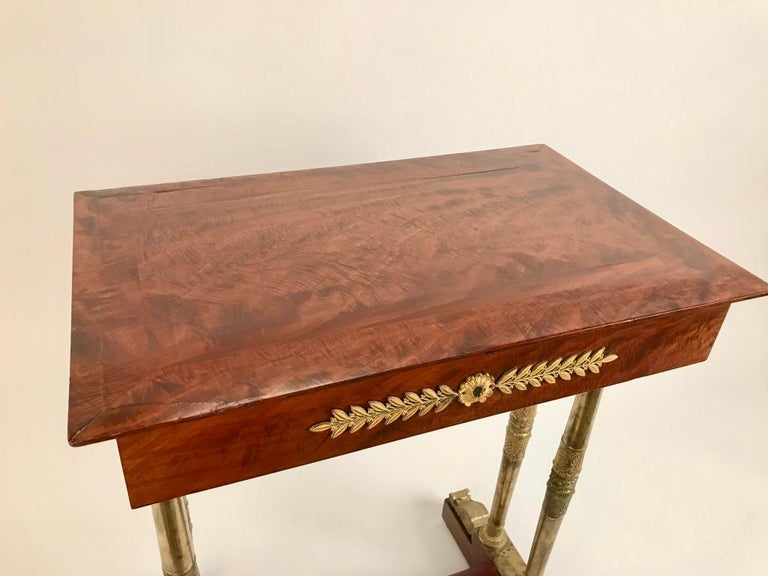 Regency Mahogany and Gilt Bronze Side Table For Sale 12