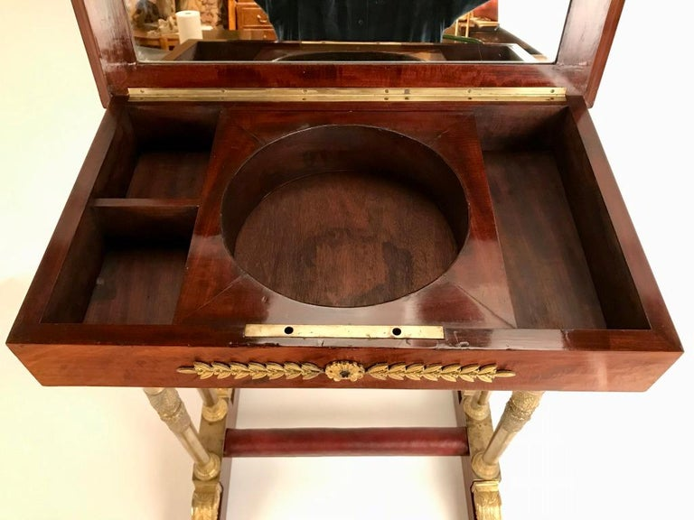 Regency Mahogany and Gilt Bronze Side Table For Sale 2