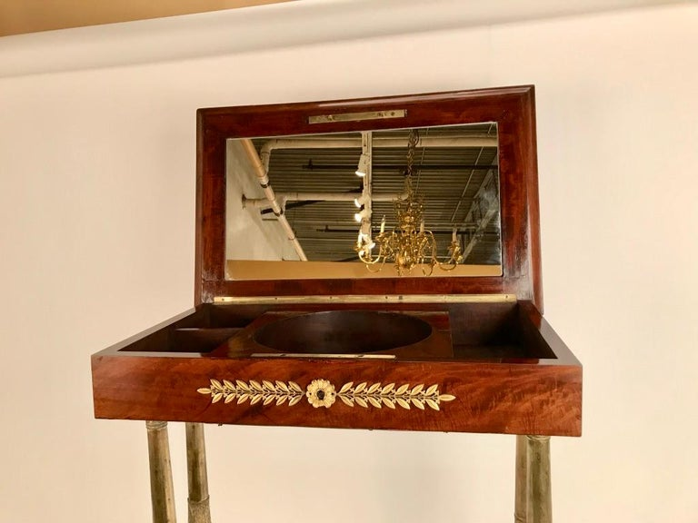 Regency Mahogany and Gilt Bronze Side Table For Sale 3