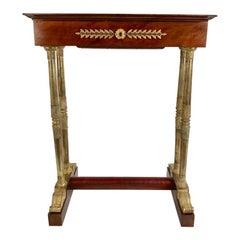 Regency Mahogany and Gilt Bronze Side Table