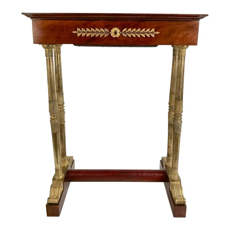 Regency Mahogany and Gilt Bronze Side Table For Sale