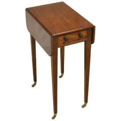 Regency Mahagoni Antiker Baby Pembroke Tisch
