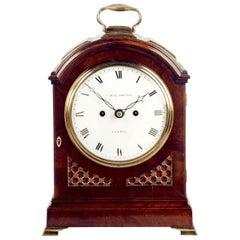 Regency Mahogany Arched-Top Bracket Clock by Cade & Robinson, London