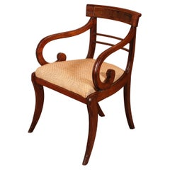 Regency Mahogany Armchair Chair, Early 19th Century, Circa 1810