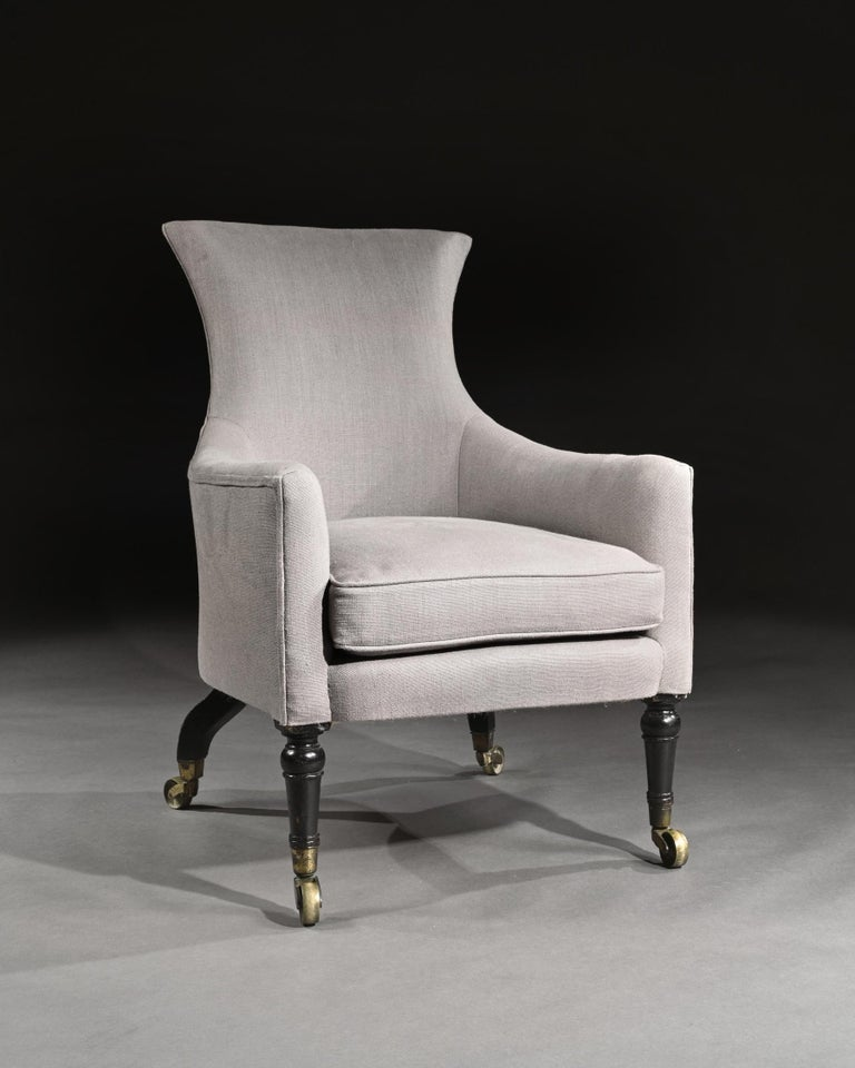 Regency Mahogany Armchair of Curvaceous Form For Sale 1