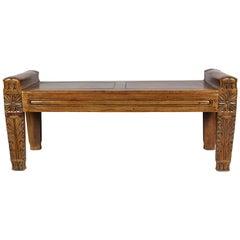 Regency Mahogany Bench