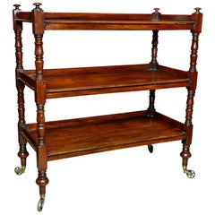 Regency Mahogany Book Trolley