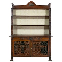 Regency Mahogany Bookcase or Cabinet or Credenza