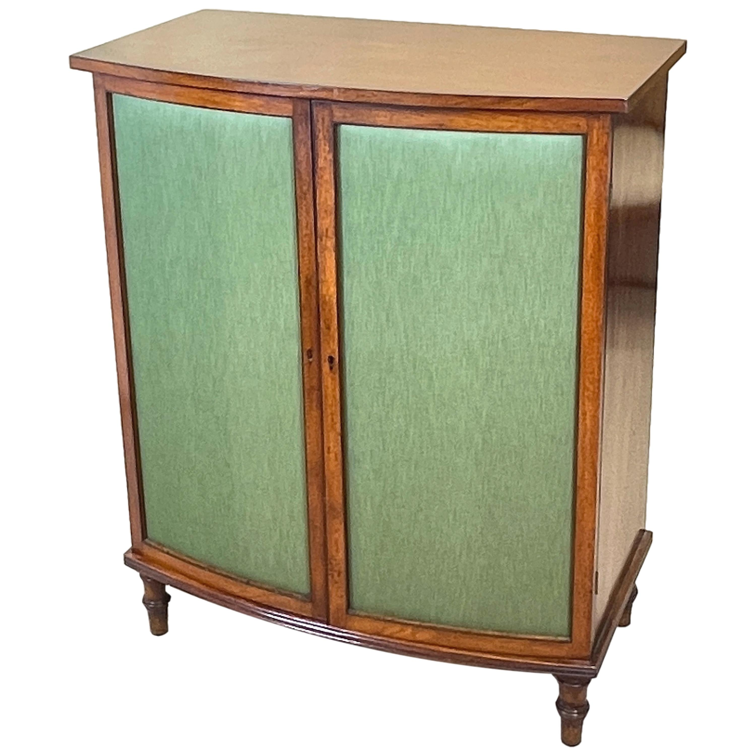 Regency Mahogany Bow Fronted Side Cabinet