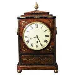 Regency Mahogany Bracket Clock by George Grove, London