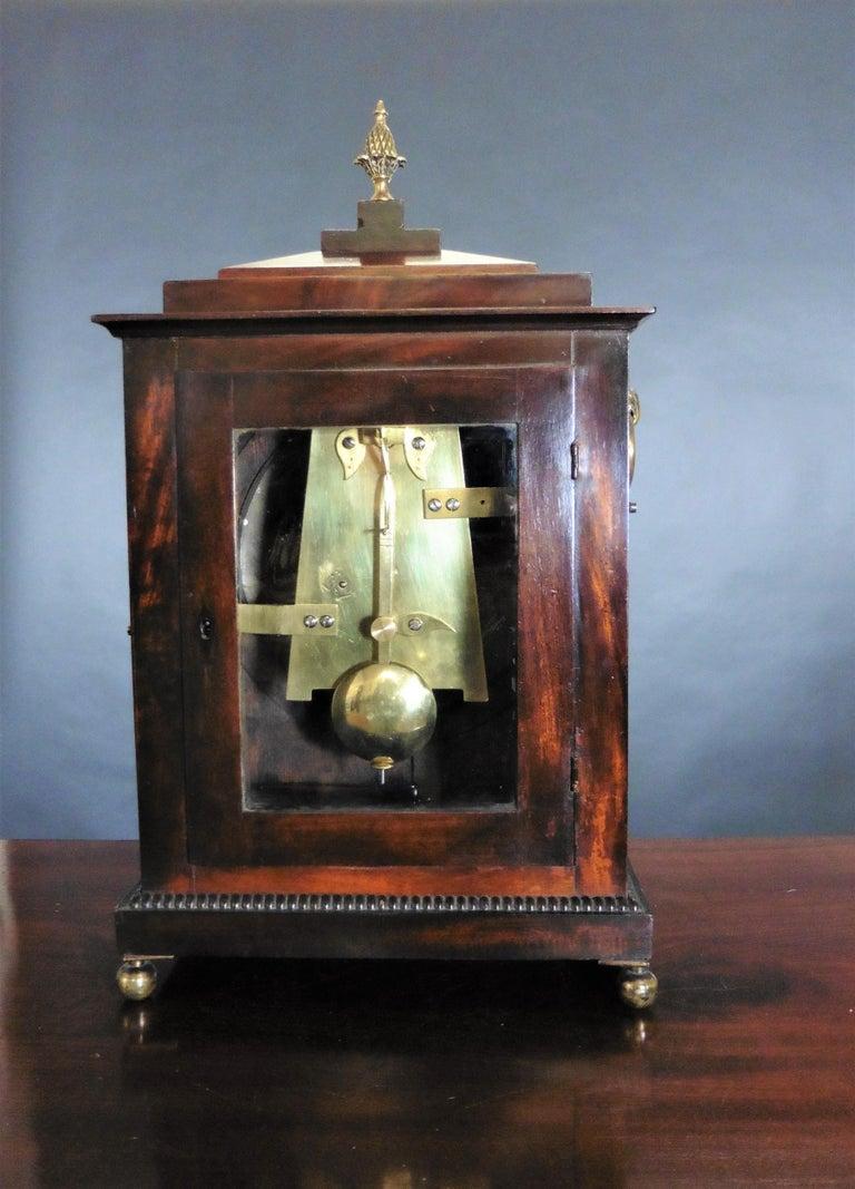 Regency Mahogany Bracket Clock by John Garth, Harrogate In Good Condition For Sale In Norwich, GB