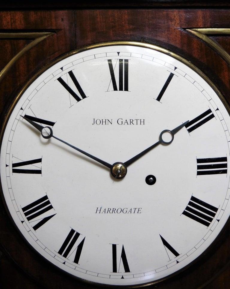 Regency Mahogany Bracket Clock by John Garth, Harrogate For Sale 2