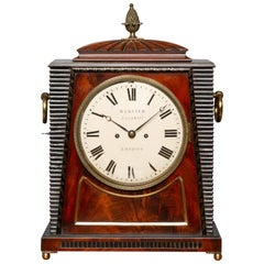 Regency Mahogany Bracket Clock by Richard Webster, Cornhill