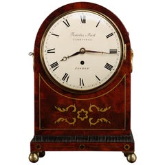 Regency Mahogany Bracket Clock by Thwaites and Reed