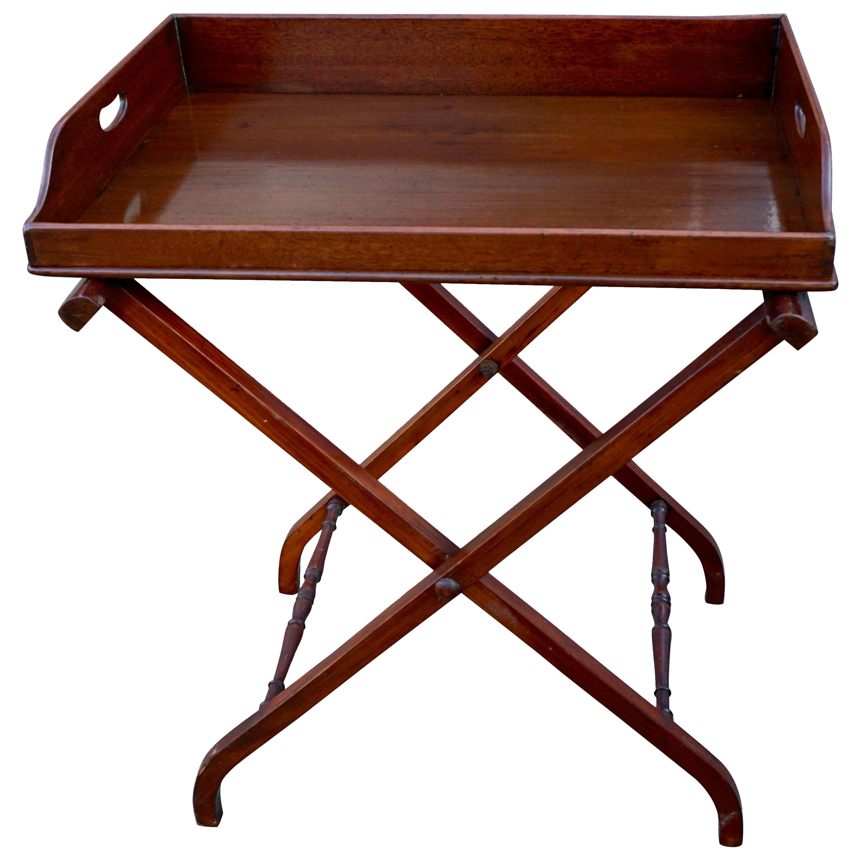 Regency Mahogany Butler's Table on Associated Stand