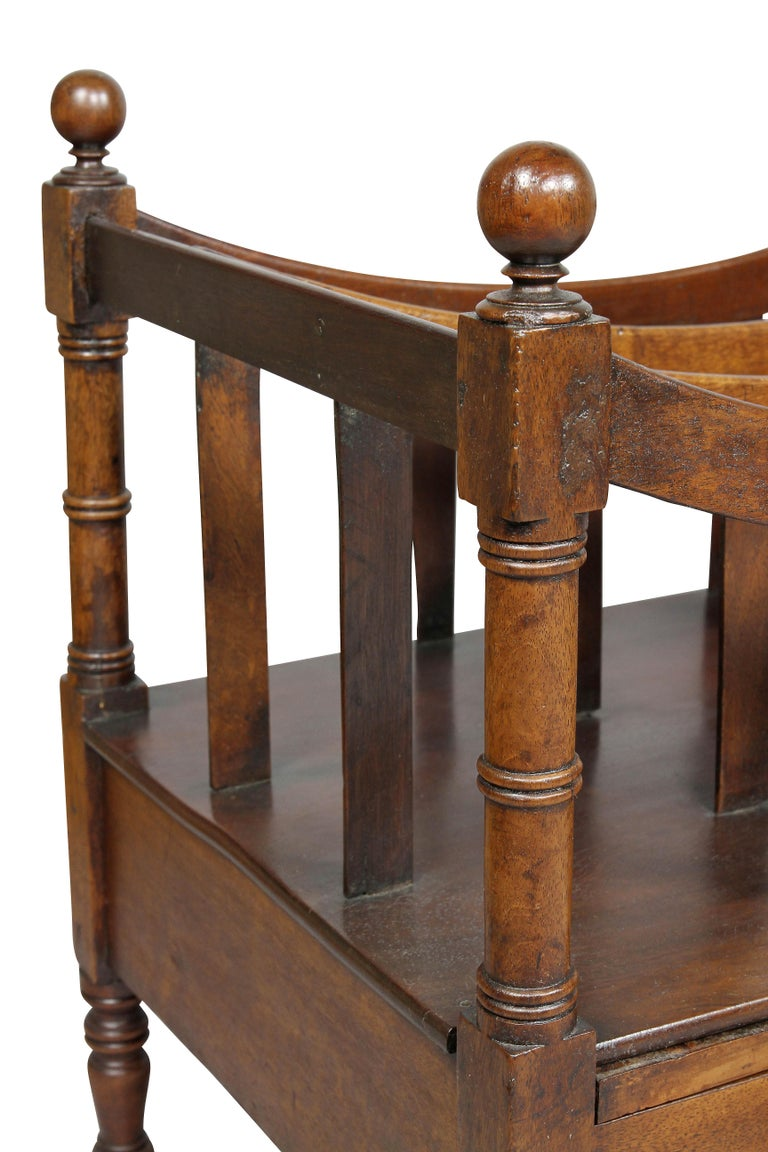Regency Mahogany Canterbury In Good Condition For Sale In Essex, MA
