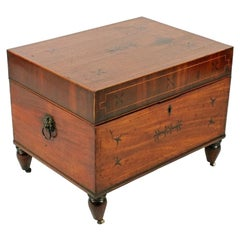 Regency Mahogany Cellaret Box, 19th Century