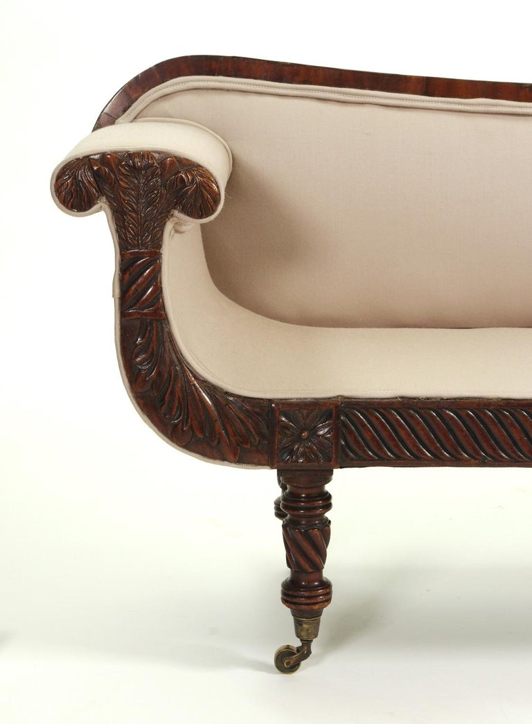 Regency Mahogany Child's Sofa, c. 1820 For Sale 2