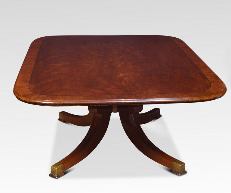 British Regency mahogany coffee table For Sale