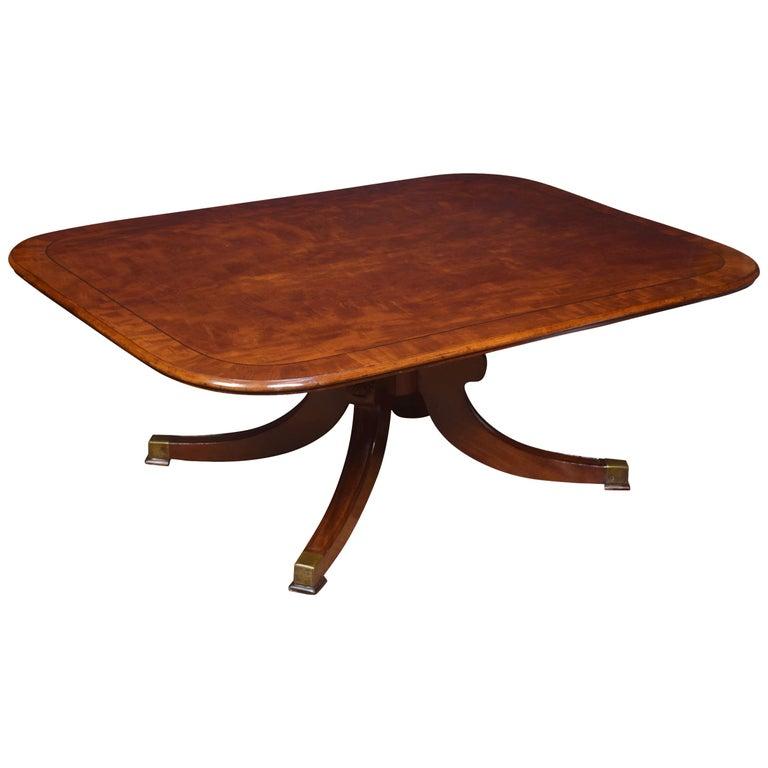 Regency mahogany coffee table For Sale